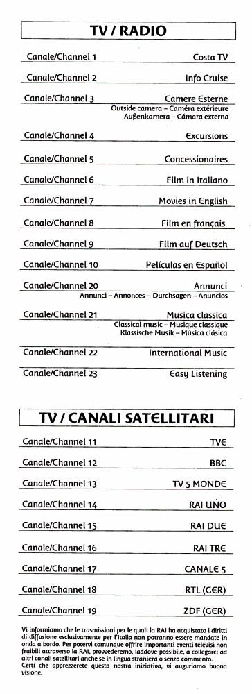 TV/Radio Channels