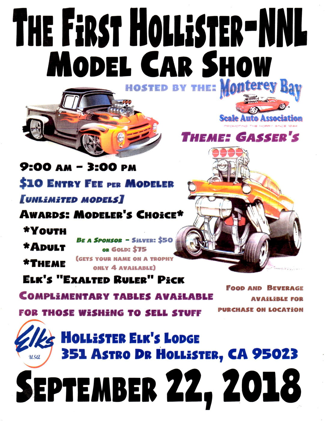 Hollister NNL In NorCal Contests And Shows Model Cars Magazine Forum - Hollister car show 2018