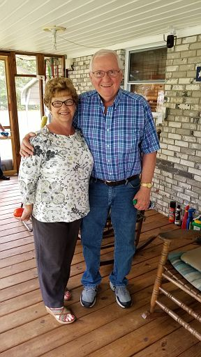 2018-09-11 - Elizabeth and Rodney at our house.