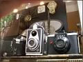 Check out the old cameras in the window