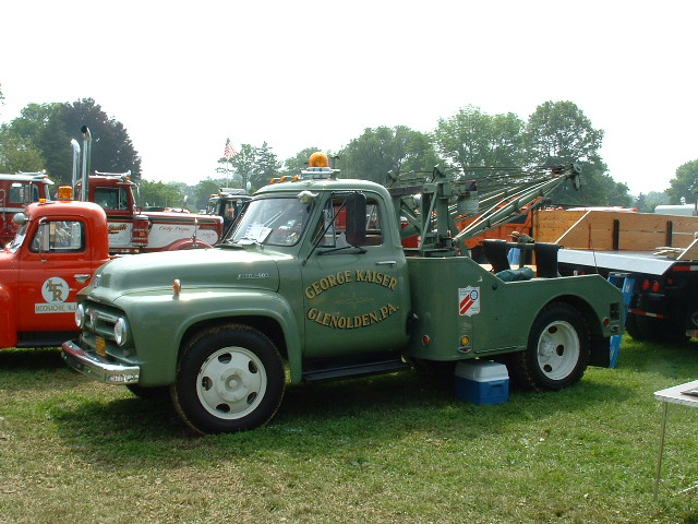 ... vintage tow truck photos 1953 ford f500 with holmes model 470 wrecker