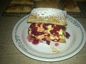 My first attempt at making mille-feuille. The kids loved it!