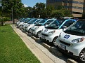 You can rent these SmartCar2Go like you would rent a bicycle in Paris.