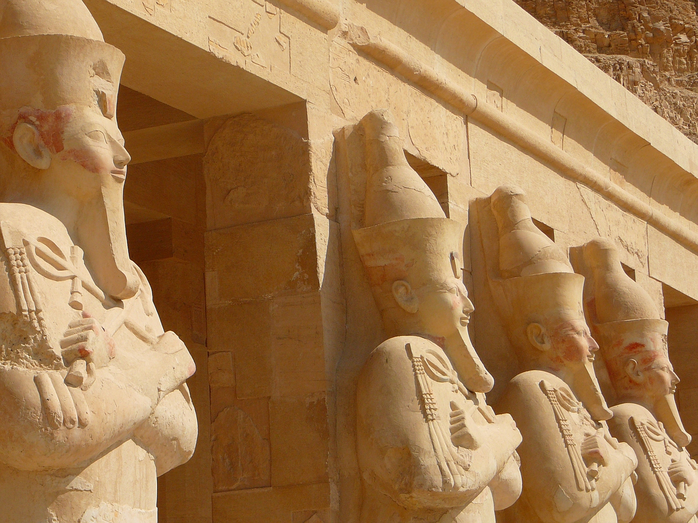 Statues of Hatshepsut with Fake Beard of Pharo