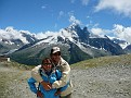 Us in front of the Mont Blanc Range