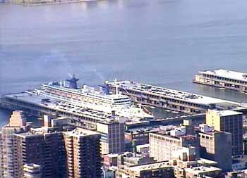 SS Norway departing NYC on her final Trans Atlantic voyage