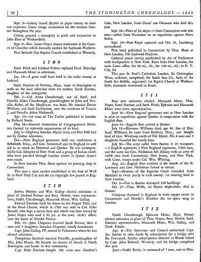 STONINGTON CHRONOLOGY - PAGE 030