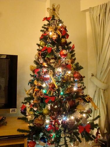 decoracao arvore de natal vermelho e dourado:Alguns dos meus enfeites preferidos esse ano: