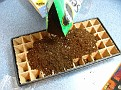 Add Seed Starting Potting Mix to Cells...