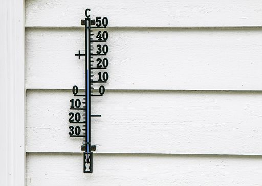 Celsius scale outside thermometer