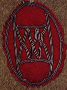 "54 - WWl Shoulder Patch worn by Edward ""ED"" Hutson"