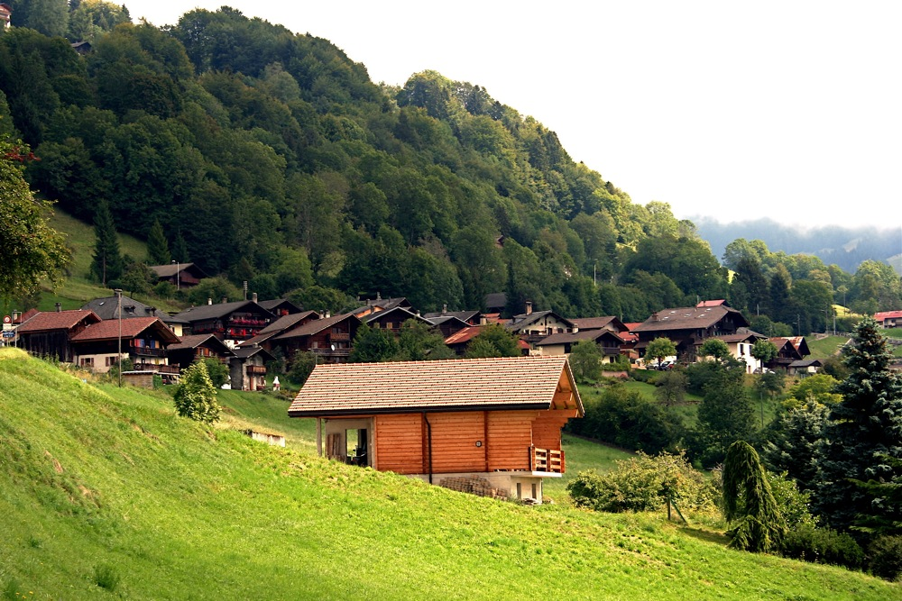 New house-must be constructed of wood and in style to match existing dwellings, Switzerland